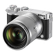 1 J5 Mirrorless Digital Camera with 10-100mm Lens (Silver)