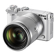 1 J5 Mirrorless Digital Camera with 10-100mm Lens (White)