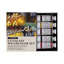 M Graham & Co. | Cityscape 0.5 oz Artists Watercolor 5 Color Set | GRM-33-CITY