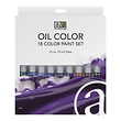18 Color Oil Paint Set (12 ml)