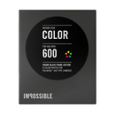 The Impossible Project | 600 Color Black Round Frame Instant Film | PRD-4170