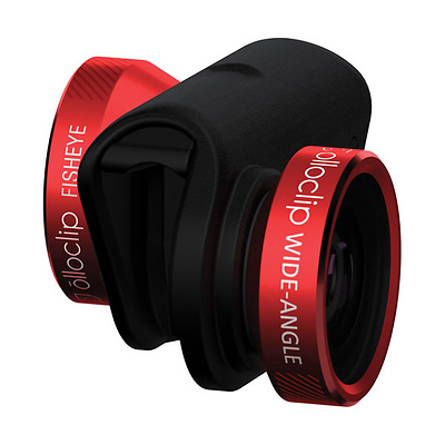 4-in-1 Photo Lens for iPhone 6/6 Plus (Red Lens with Black Clip) Image 0