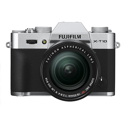 X-T10 Mirrorless Digital Camera with 18-55mm Lens (Silver) Image 0