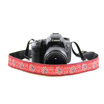 Bandana 1.5 In. Camera Strap (Red) Image 0
