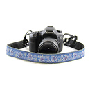 Capturing Couture | Bandana 1.5 In. Camera Strap (Blue) | SLR15-BDBL
