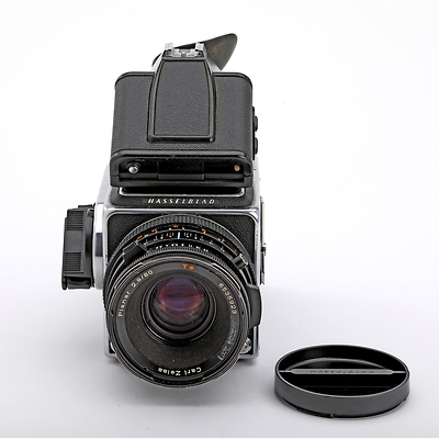 Hasselblad 500CM Camera with 80mm f/2 8 Lens, A12 Back, and PME 90  Viewfinder (Chrome) - Used