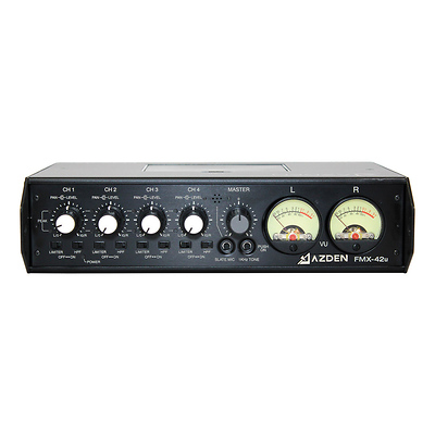 FMX-42u 4-Channel Microphone Field Mixer with USB Digital Audio Output Image 0