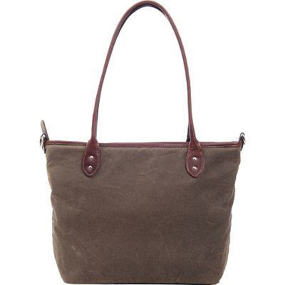 The Capri Leather Tote Bag (Field Tan) Image 0