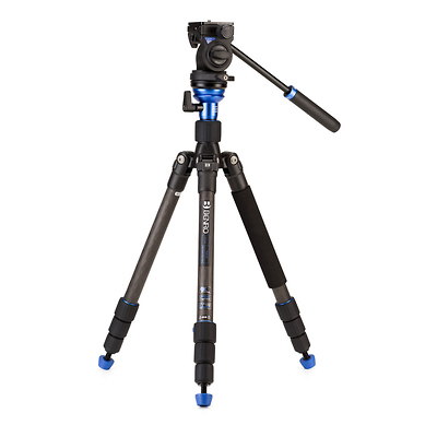 HFTA18CS2H Hybrid Carbon Fiber Tripod with S2H Pan/Tilt Head Image 0