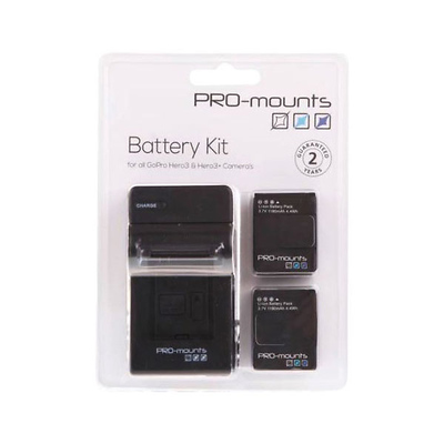 Battery Charger Kit for GoPro Hero3 & Hero3+ Image 0