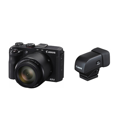 PowerShot G3 X Digital Camera with EVF-DC1 Electronic Viewfinder Image 0