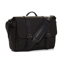 The Nylon Brixton Camera and Laptop Messenger Bag (Black) Image 0