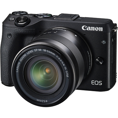 EOS M3 Mirrorless Digital Camera with 18-55mm Lens (Black) Image 0