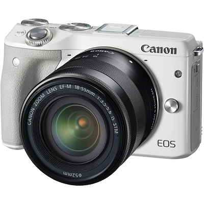 EOS M3 Mirrorless Digital Camera with 18-55mm Lens (White) Image 0