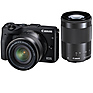 EOS M3 Mirrorless Digital Camera with 18-55mm and 55-200mm Lenses (Black)