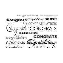 53 in. x 18 ft. Printed Background Paper (Congratulations) Image 0