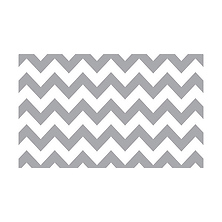 53 in. x 18 ft. Printed Background Paper (Gray & White Chevron) Image 0