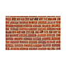 53 in. x 18 ft. Printed Background Paper (Red Brick)