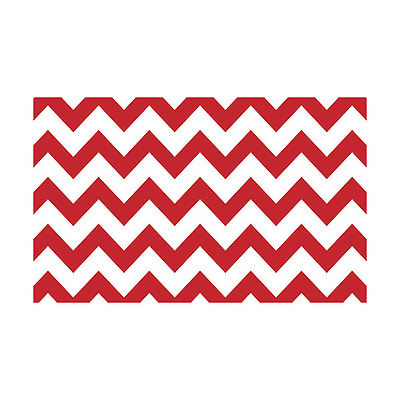 53 in. x 18 ft. Printed Background Paper (Red & White Chevron) Image 0