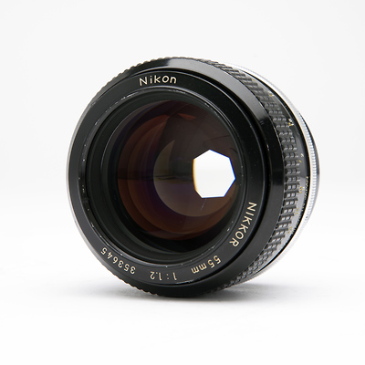 55mm f/1.2 F Mount Lens (non A-I) - Used Image 0