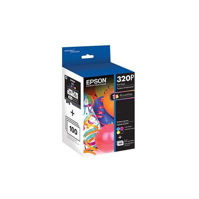 320 Standard Capacity Color Ink Cartridge Print Pack