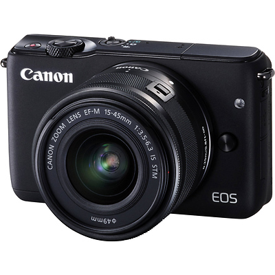 EOS M10 Mirrorless Digital Camera with 15-45mm Lens (Black) Image 0