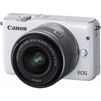 EOS M10 Mirrorless Digital Camera with 15-45mm Lens (White) Image 0
