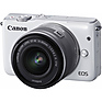 EOS M10 Mirrorless Digital Camera with 15-45mm Lens (White)