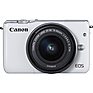 EOS M10 Mirrorless Digital Camera with 15-45mm Lens (White) Thumbnail 1