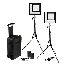 Flex Bi-Color LED Mat 2-Light Cine Travel Kit (1 x 1 ft.) Image 0