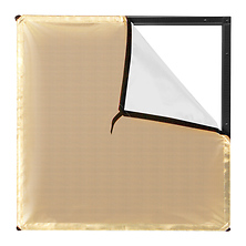 Scrim Jim Cine Gold/White Bounce Fabric (2 x 2 ft.) Image 0