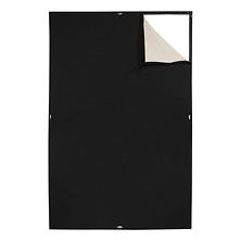 Scrim Jim Cine Unbleached Muslin/Black Fabric (4 x 6 ft.) Image 0