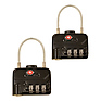 TSA Combination Cable Padlocks (2-Pack)