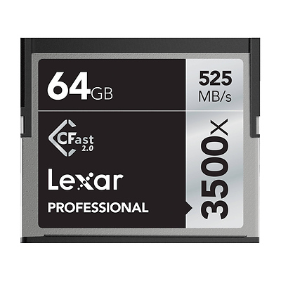 64GB Professional 3500x CFast 2.0 Memory Card Image 0