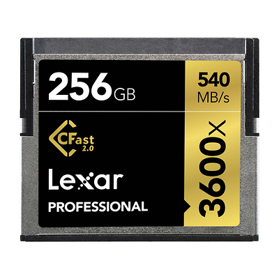 256GB Professional 3600x CFast 2.0 Memory Card Image 0