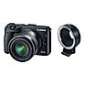 EOS M3 Mirrorless Digital Camera with 18-55mm Lens & EF-M Lens Adapter Kit (Black)