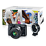 EOS M3 Mirrorless Digital Camera with 18-55mm Lens & EF-M Lens Adapter Kit (Black) Thumbnail 1