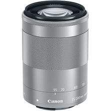 EF-M 55-200mm f/4.5-6.3 IS STM Lens (Silver) Image 0