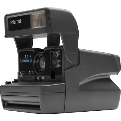 The Impossible Project Polaroid 600 Square Instant Camera (Black)