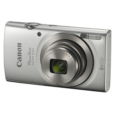 PowerShot ELPH 180 Digital Camera (Silver) Image 0