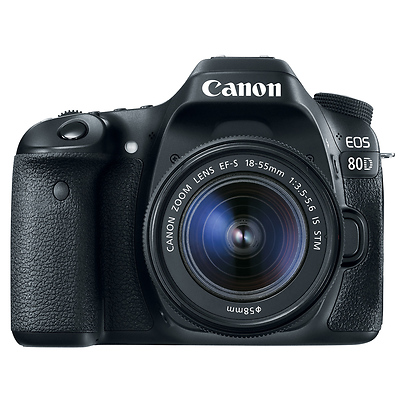 EOS 80D Digital SLR Camera with EF-S 18-55mm f/3.5-5.6 IS STM Lens Image 0