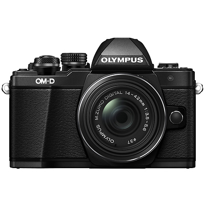 OM-D E-M10 Mark II Mirrorless Micro Four Thirds Digital Camera with 14-42mm II R Lens (Black) Image 0