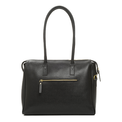 The Madison Camera and Laptop Leather Bag (Black) Image 0