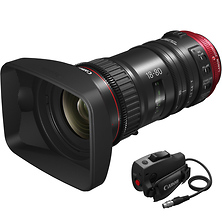 CN-E 18-80mm T4.4 COMPACT-SERVO Cinema Zoom Lens (EF Mount) with ZSG-C10 Zoom Grip Image 0