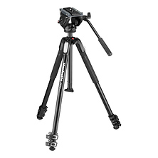 MT190X3 3-Section Aluminum Tripod with MVH500AH Fluid Head Hybrid Kit Image 0