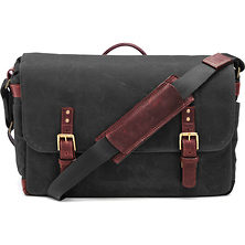 The Union Street Messenger Bag (Black, Waxed Canvas & Leather) Image 0