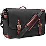 The Union Street Messenger Bag (Black, Waxed Canvas & Leather) Thumbnail 1