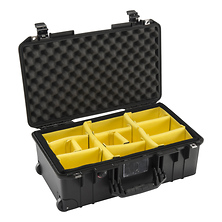 1535AirWD Wheeled Carry-On Case (Black, with Dividers) Image 0