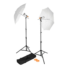 Basics LED 2-Light Umbrella Kit Image 0