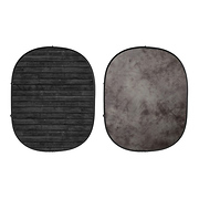 Collapsible Backdrop (Dark Planks/Light Gray) Kit